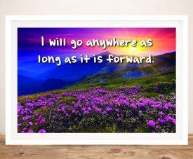 Buy I Will Go Anywhere Framed Motivational Artwork