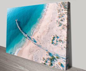 Jurien Bay Jetty Matt Day Collection on Canvas Print Art Gallery