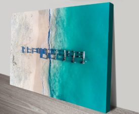 Old Jurien Bay Jetty Matt Day Collection on Canvas Print Art Gallery