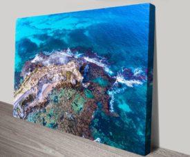 Wedge Island Reef Matt Day Collection on Canvas Print Art Gallery