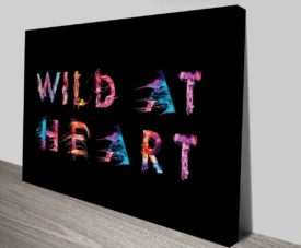 Wild At Heart on Canvas Print Art Gallery
