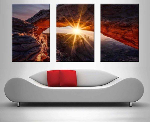 Yellow Canyon Sunrise 3 Panel