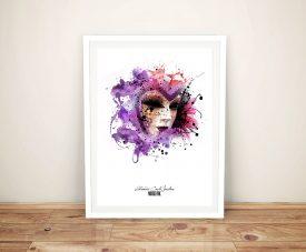 Harlequin patrice murciano-Framed Wall Art Print Australia