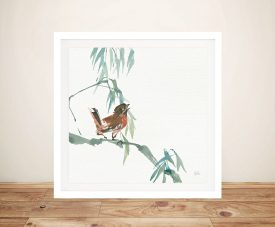 Russet Sparrow Wall Art Canvas Print
