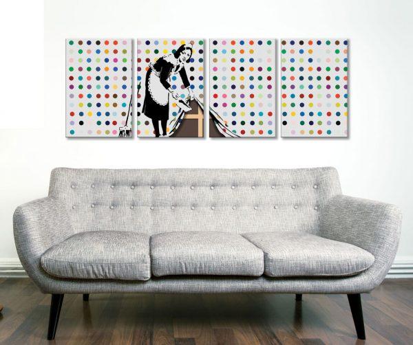Banksy Keeping It Spotless 4 Panel