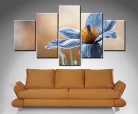 Blue Floral 5 Panel