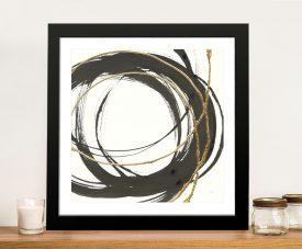 Abstract Gold Framed Wall Art