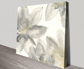 Gray and Silver Flowers I