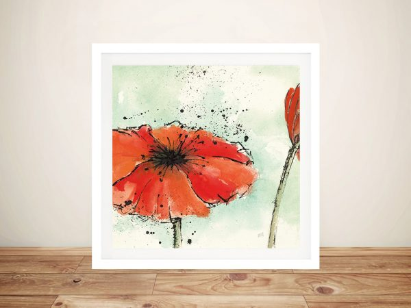 Not a California Poppy Flower Framed Wall Art