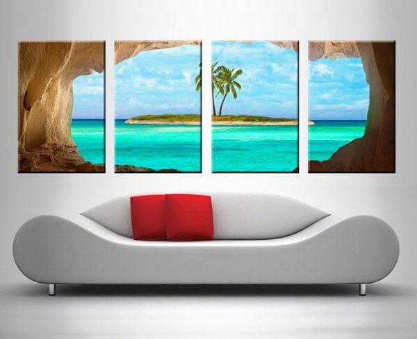 Peeking at Paradise 4 Panel