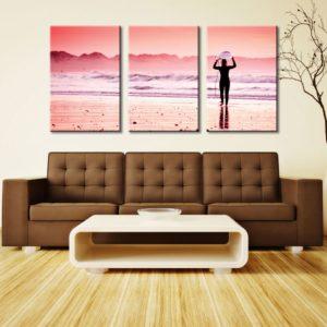 Pink Surf 3 Panel