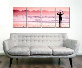Pink Surf 4 Panel