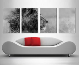 The Majestic King Lion 4 Panel