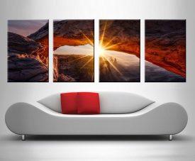 Yellow Canyon Sunrise 4 Panel