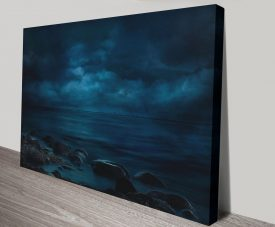 Moonlight Over Distant Shores Print