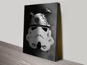 Death Star Trooper Star Wars Canvas Print