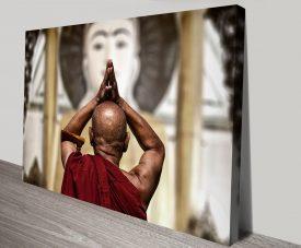 Praise and Worship Canvas Art Monk-Wall Art
