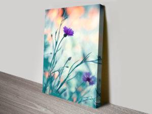 Floral Purple Canvas Artwork Print