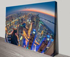 Dubai City Canvas Artwork Prints