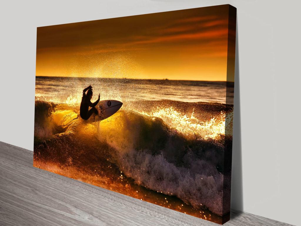 Front Side Canvas Surfing Artwork Print Wall Art Sydney
