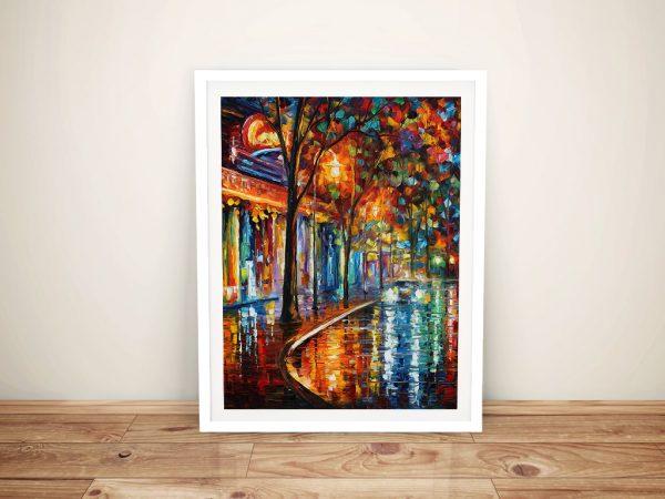 Night Cafe Leonid Afremov Framed Wall Art