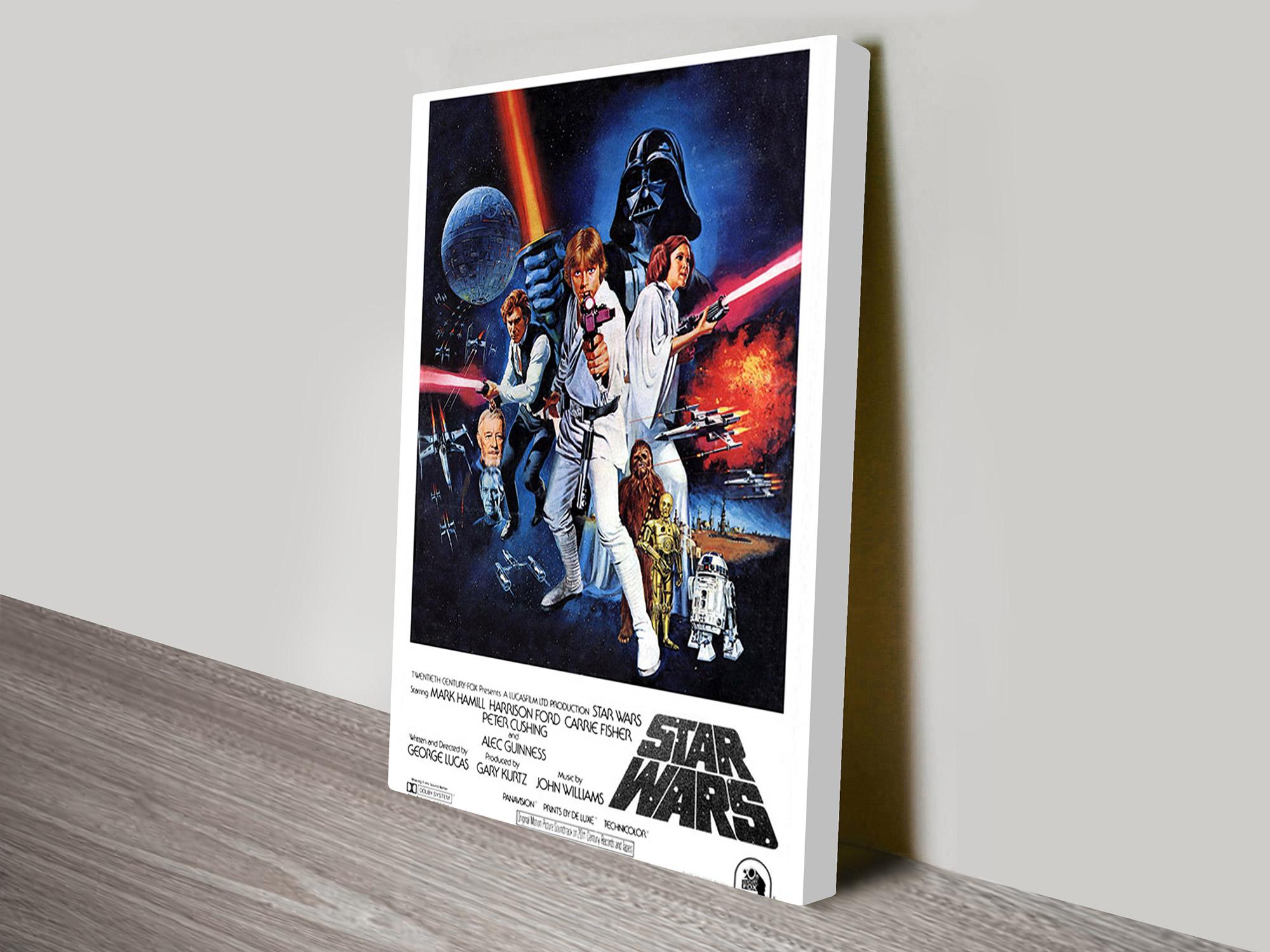 A new hope vintage poster canvas print - Lustre star wars ...