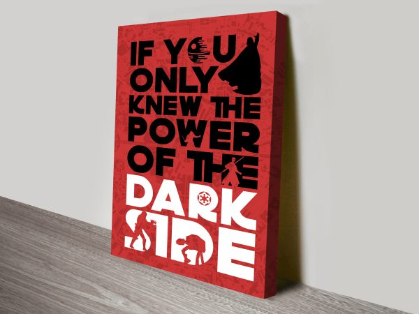 Power of the Darkside Star Wars Canvas Wall Artwork