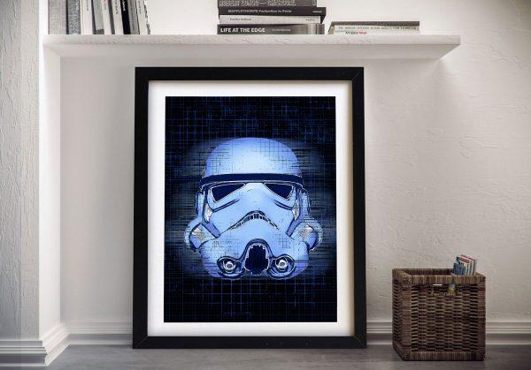 Stormtrooper Blueprint Framed Wall Art Sydney
