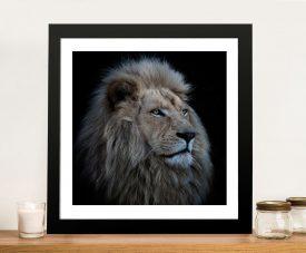 Lion Square Framed Wall Art