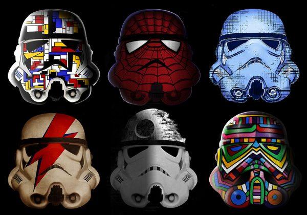 Stormtrooper helmet pop art canvas picture