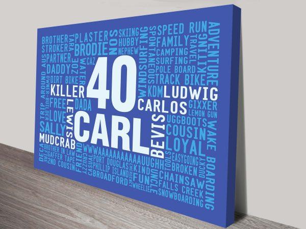 Big Birthday Personalised Gifts Word Art