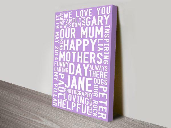 Bespoke Custom Mothers Day Gift Idea