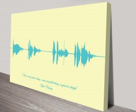 Personalised Soundwave Linear Style Custom Wall Art Prints