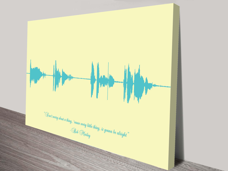 Personalised Soundwave Linear Style Custom Wall Art Prints Australia