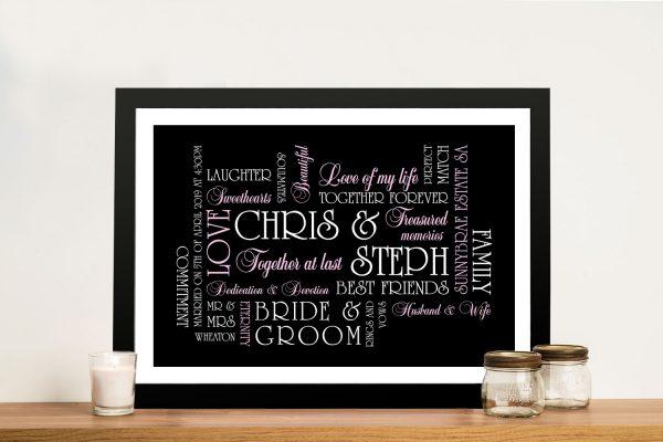 Wedding Personalised Artwork Australia
