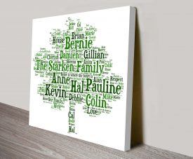 Family Tree Personalised Word Art