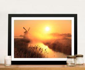 Dusk Sentinel Windmill Framed Wall Art