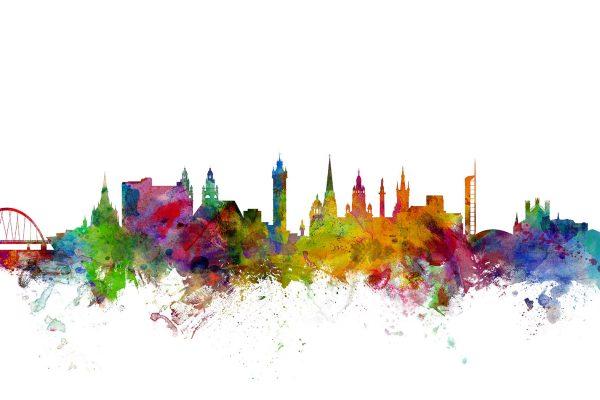 Glasgow Scotland Skyline Art