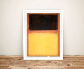 Mark Rothko No9 Dark Over Light Framed Wall Art