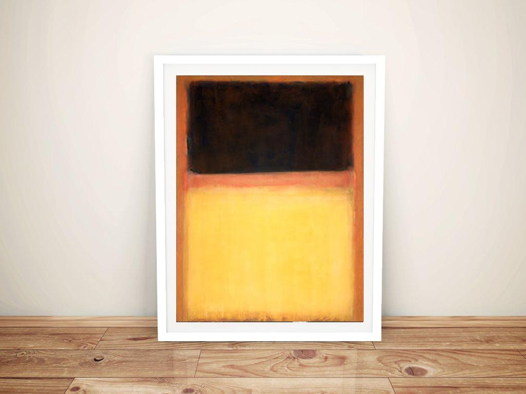 Mark Rothko Print on Canvas Number 9 Dark Over Light Artwork Brisbane