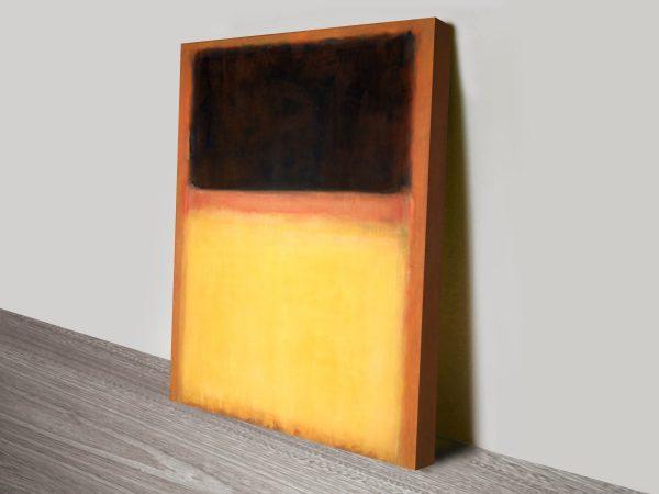 Mark Rothko No9 Dark Over Light canvas print