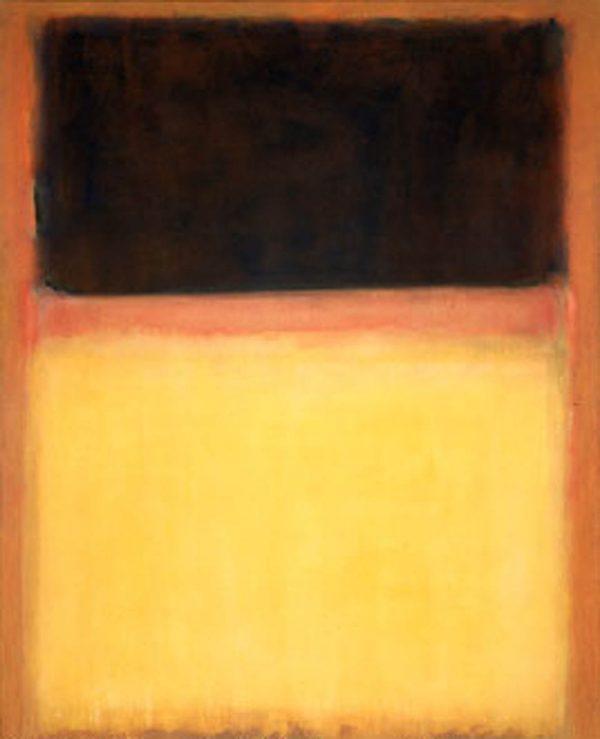 Mark Rothko Print on Canvas Number 9 Dark Over Light