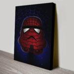 Spiderman stormtrooper canvas print