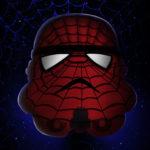 Spiderman Stormtrooper Star Wars Canvas Wall Art