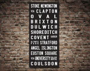 Stoke Newington Coulsdon Bus Canvas