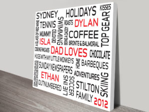 Typographic Word Art Gift Idea