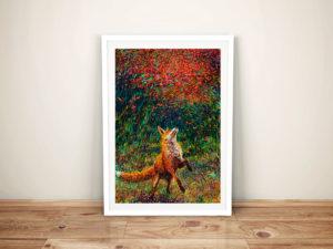 Fox fire iris Scott Framed Wall Art