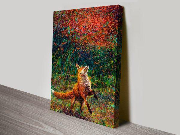fox fire iris Scott canvas print