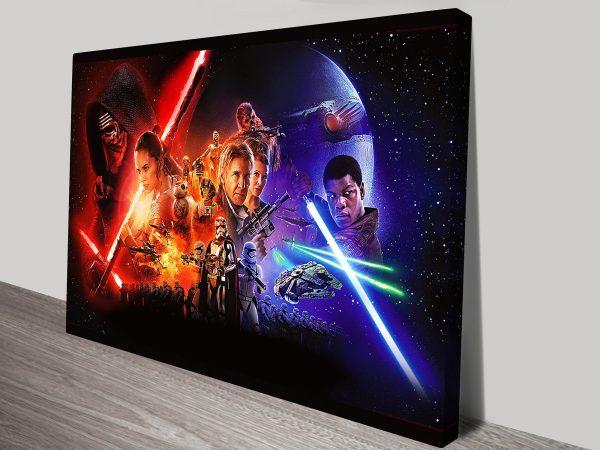 Star Wars Force Awakens Canvas Print