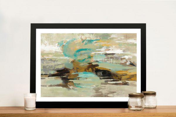 Hidden Lagoon Abstract Artwork Print